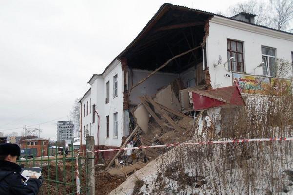 Пофакту частичного обрушения стены здания вЧебоксарах возбуждено уголовное дело