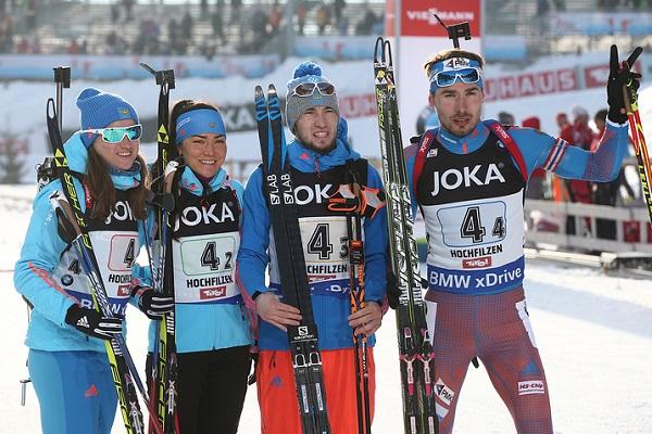Сборная РФ завоевала бронзу всмешанной эстафете чемпионата мира побиатлону