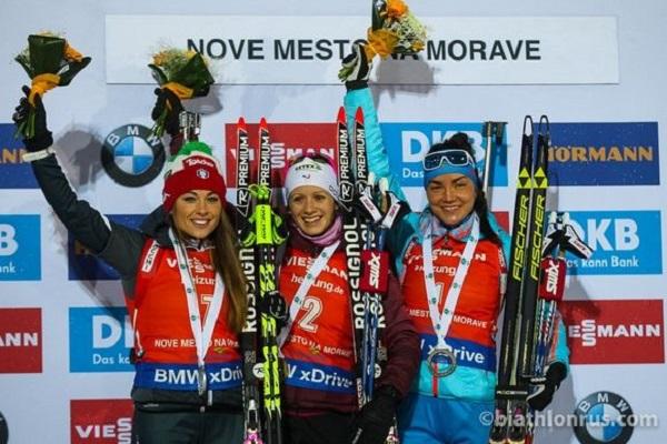 Биатлонистка Акимова выиграла наэтапе Кубка мира