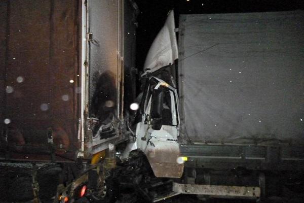 Натрассе М-7 вЯдринском районе при столкновении фургонов умер мужчина